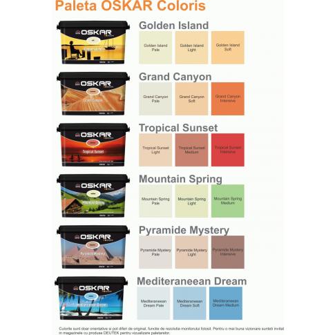 Vopsea lavabila interior, Oskar Coloris Golden Island pale, 5 L