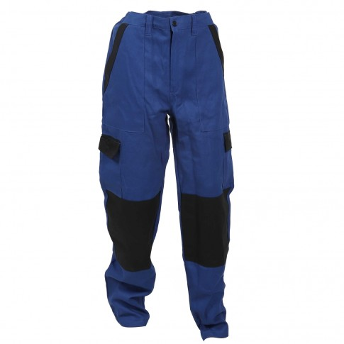Pantalon Athos, bumbac, albastru + negru, marimea 56