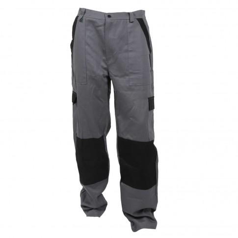 Pantaloni pentru protectie Athos, bumbac, gri-negru, marimea 48
