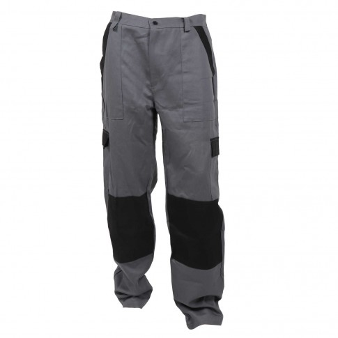 Pantaloni pentru protectie Athos, bumbac, gri-negru, marimea 50