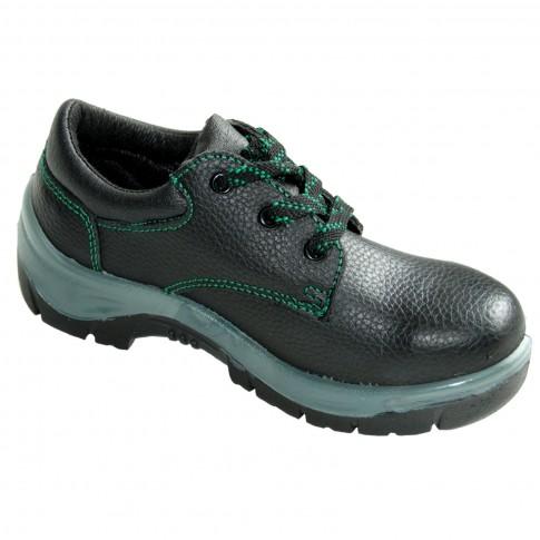 Pantofi de protectie cu bombeu metalic, piele, negru, S1, marimea 43