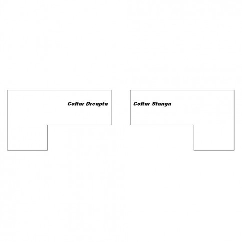 Coltar living extensibil pe stanga Magic, cu lada, bej + maro, 260 x 205 x 90 cm, 3C