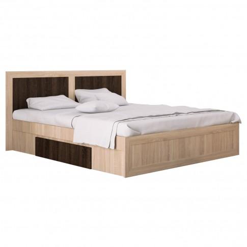 Dormitor complet Adam, stejar bardolino + sonoma dark, 5 piese, 14C