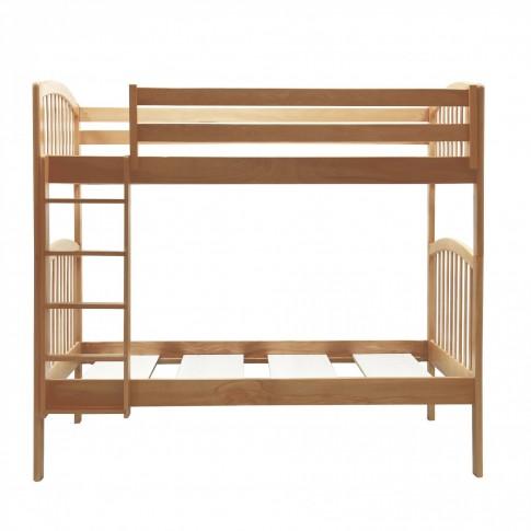 Pat dormitor pentru copii Classic, dublu, supraetajat, fag, 90 x 190 cm, 3C