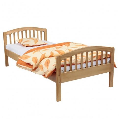 Pat dormitor pentru copii Classic, o persoana, fag, 90 x 190 cm, 2C