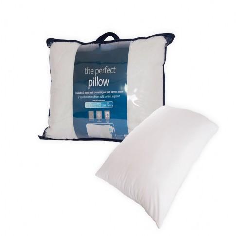 Perna pentru dormit Perfect pillow fibra poliester siliconizata + microfibra alb 50 x 70 cm