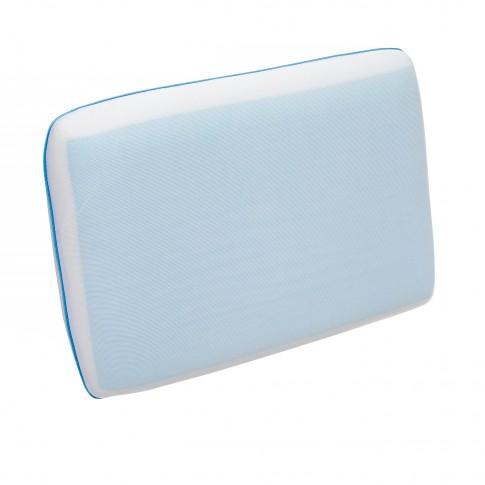 Perna pentru dormit Green Future Arctic gel, spuma memory + gel, alba, 40 x 60 cm