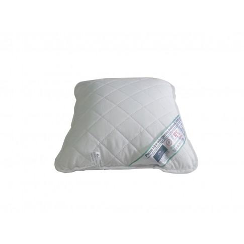 Perna pentru dormit hipo-alergenica poliester + microfibra alb 40 x 40 cm
