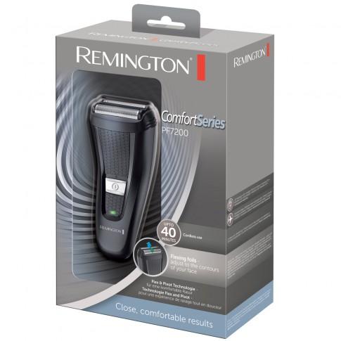 Aparat de ras Remington PF7200, acumulator, autonomie 40 minute, 2 site flexibile, trimmer culisant, indicator LED