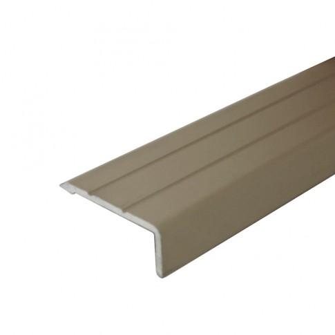 Profil aluminiu pentru treapta, Profiline olive, 25 x 10 mm, 0.9 m