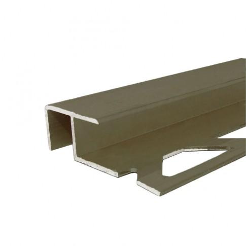 Profil aluminiu pentru treapta, Profiline olive, 10 x 12 mm, 2.5 m