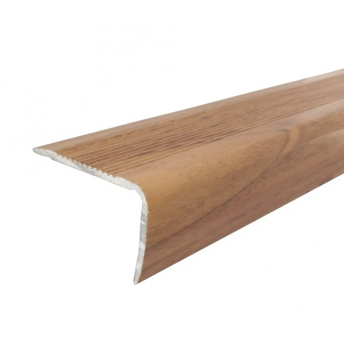 Profil aluminiu pentru treapta, Profiline stejar roscat, 40 x 25 mm, 1.2 m