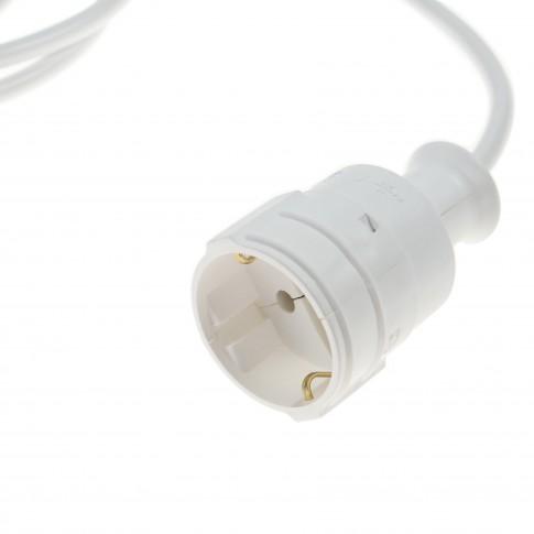 Prelungitor cu fisa si cupla, contact de protectie, 5 m, H05VV-F 3 x 1 mmp