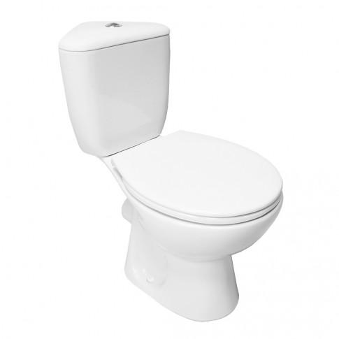 Set vas WC + rezervor + mecanism + capac Keops, montaj pe colt, P011 K08-054, din ceramica, 37.5 x 76 x 76 cm