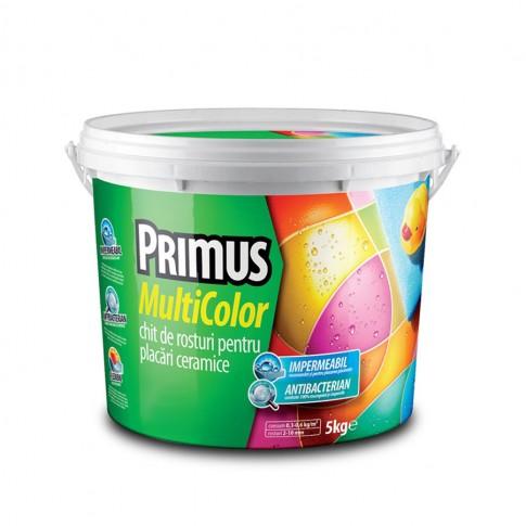 Chit de rosturi gresie si faianta Primus Multicolor Antibacterian B44 magic mint, interior / exterior, 5 kg