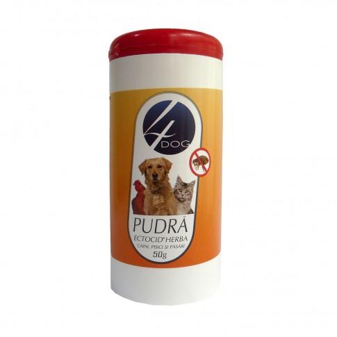 Pulbere antiparazitara Ectocid Herba 4 Dog, 50 ml