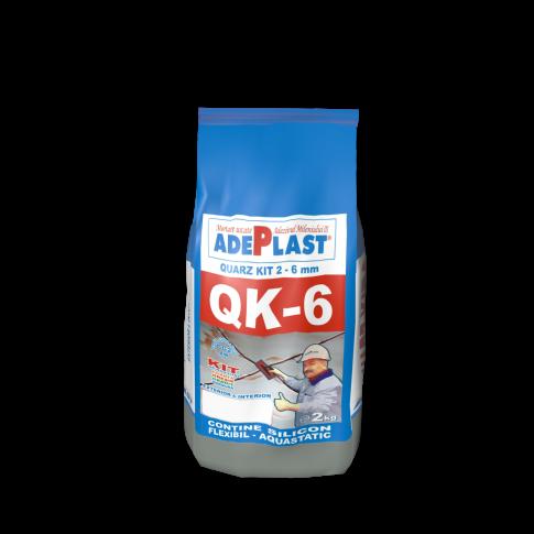 Chit de rosturi gresie si faianta Adeplast Quarz Kit QK - 6, gri petrol, interior / exterior, 2 kg