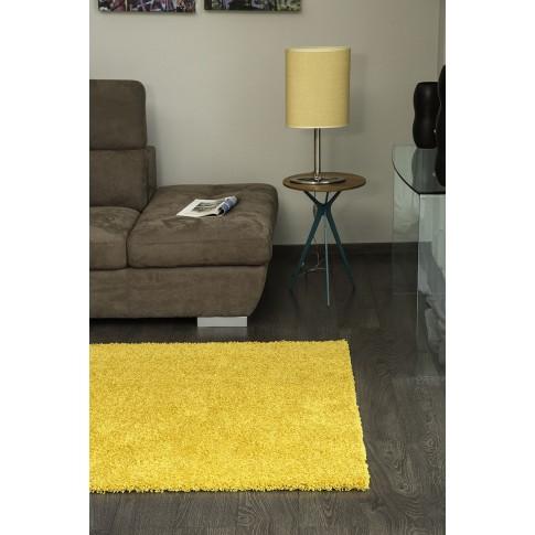 Covor living / dormitor Sintelon Rio 01GGG polipropilena dreptunghiular galben 80 x 150 cm