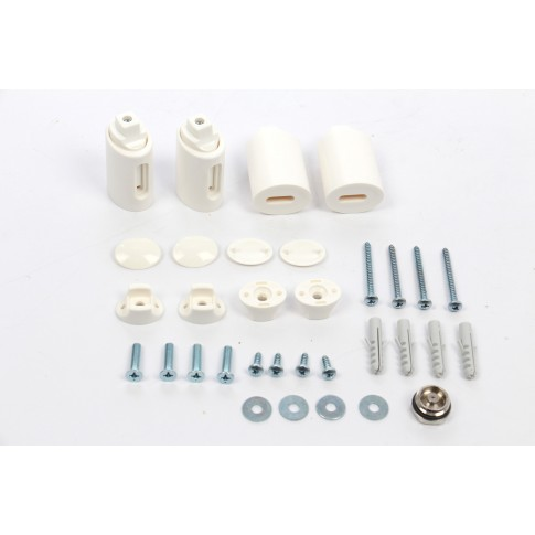 Calorifer baie Radox Round, portprosop, curbat, alb, 450 x 1200 mm  + accesorii montaj