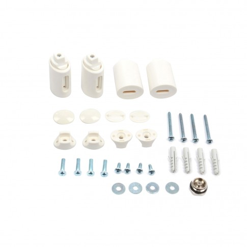 Calorifer de baie Radox Round, portprosop, curbat, alb, 500 x 800 mm  + accesorii montaj