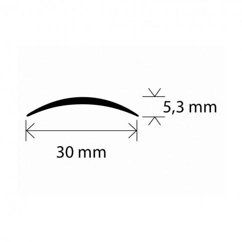 Profil aluminiu de trecere, SET S03 argintiu 2.7 m