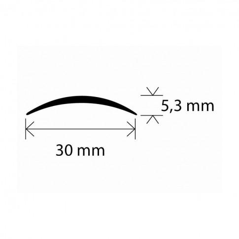 Profil aluminiu de trecere, SET S03 bronz 2.7 m