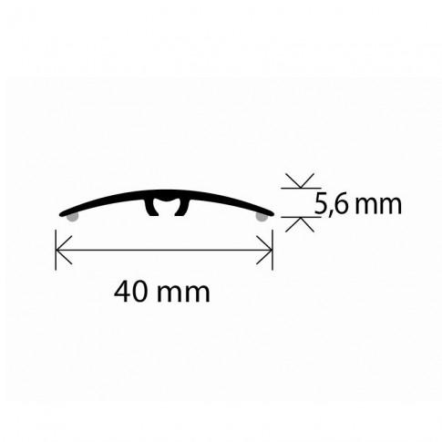 Profil de trecere din aluminiu S64, latime 40 mm, nuc, 93 cm