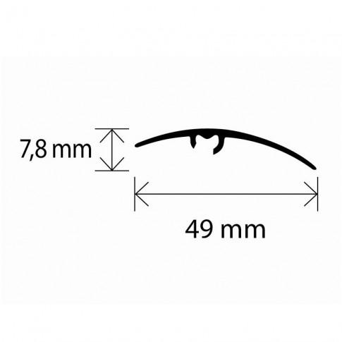 Profil de trecere diferenta nivel din aluminiu S65, latime 49 mm, frasin, 93 cm