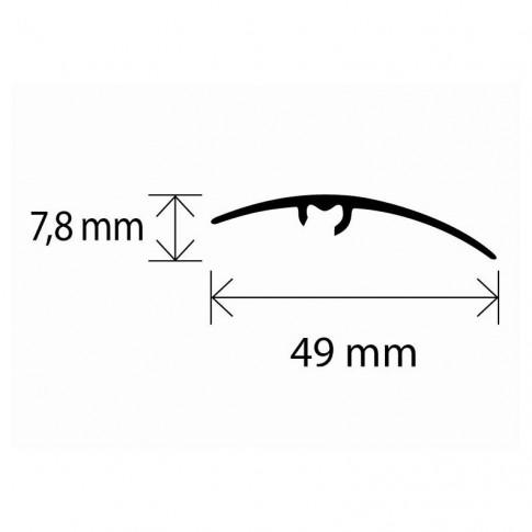Profil aluminiu de trecere, diferenta de nivel, SET S65 bronz 0.93 m