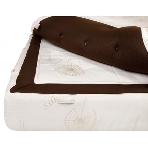 Saltea pat Green Future Luxury Brown, ortopedica, cu spuma poliuretanica + memory + latex, cu arcuri, 160 x 200 cm