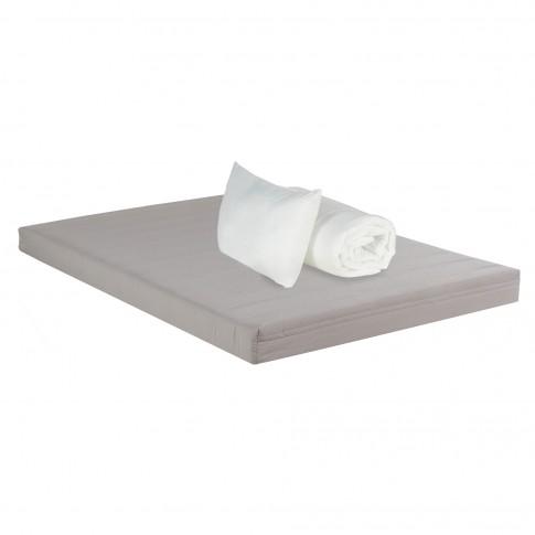 Saltea pat Bedora Combo Starter, 1 persoana, cu spuma poliuretanica, fara arcuri, 90 x 200 cm + pilota + perna