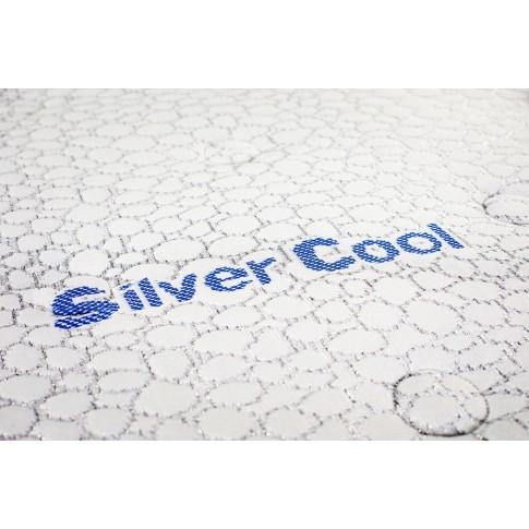 Saltea pat Green Future Silver Cool, cu spuma Memo Gel + poliuretanica + latex, fara arcuri, 180 x 200 cm