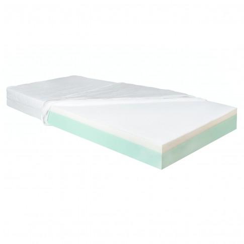 Saltea pat Adormo Ortopedic 2 in 1, cu spuma poliuretanica, fara arcuri, 140 x 200 cm + perne Adormo Alto Select