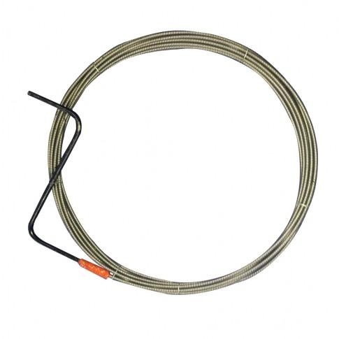 Cablu pentru desfundat canale, D 8 mm, 5 ml