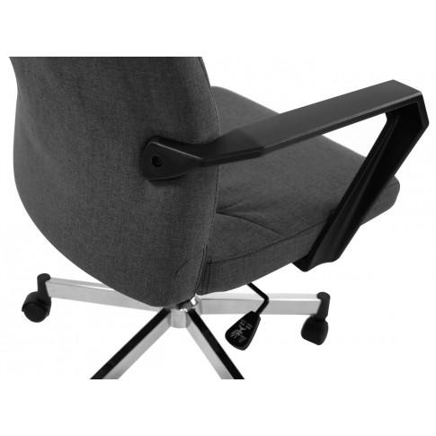 Scaun birou directorial Focus PDH, rotativ, material textil, gri + negru
