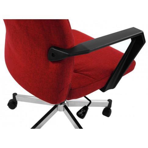 Scaun birou directorial Focus PDH, rotativ, material textil, rosu + negru