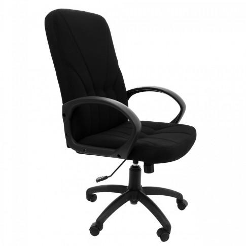 Scaun birou directorial Leganza, rotativ, stofa C11, negru