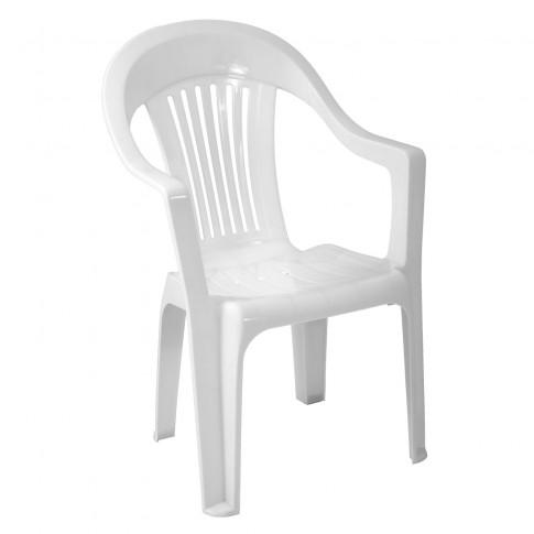 Scaun pentru gradina, Sole, plastic, alb