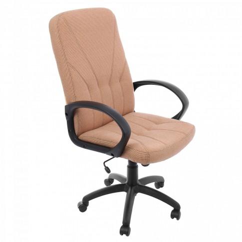 Scaun birou directorial Leganza, rotativ, stofa C04, maro