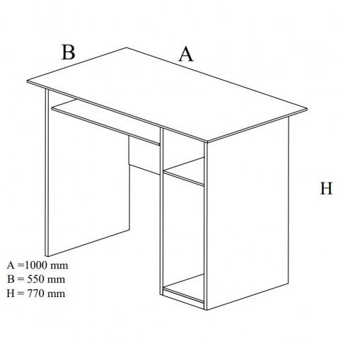 Birou calculator Dan, magia, 100 x 77 x 55 cm, 2C