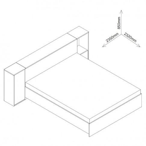 Dormitor complet Verona, sherwood + maro + print, 3 piese, 14C