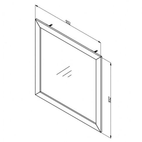 Oglinda pentru comoda Astor, stejar gri, 93 x 93 x 3 cm, 1C