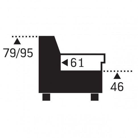 Coltar living extensibil pe dreapta Speedway OTM/BK-2F, cu lada, gri + maro, 262 x 224 x 95 cm, 2C
