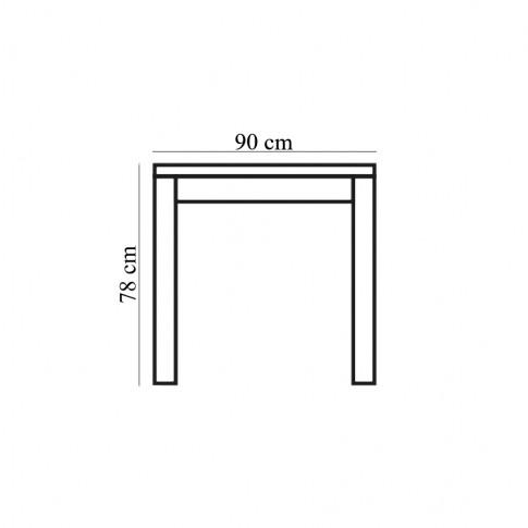 Masa bucatarie fixa Torino, dreptunghiulara, 6 persoane, neagra, 170 x 90 x 78 cm, 1C