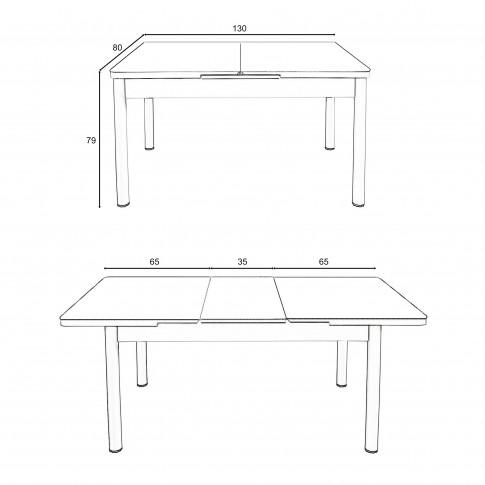 Set masa extensibila cu 6 scaune tapitate Olimpia, bucatarie, negru + alb, 3C