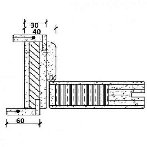 Usa de interior din lemn, cu geam, BestImp G1-68 D, stejar alb, stanga / dreapta, 203 x 68 cm