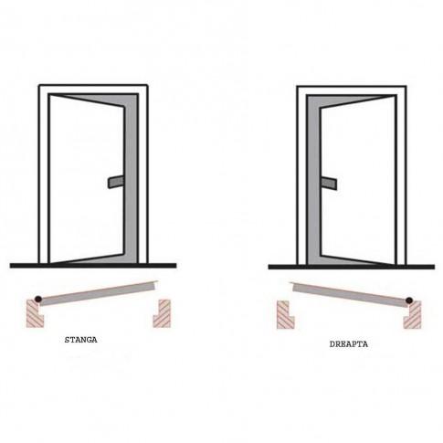 Usa interior metalica Prestige 1 lux 68, dreapta, nuc mat, 200 x 88 cm
