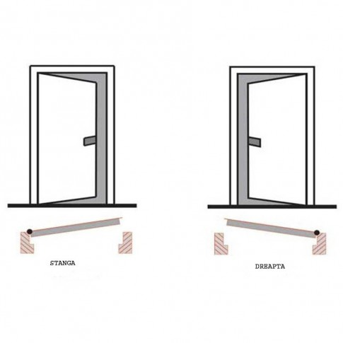 Usa interior metalica Ekoplus 9000 M-00, stanga, antic, 200 x 88 cm
