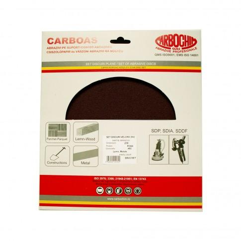 Disc abraziv pentru slefuire lemn, Carbochim PCNX, 235 x 22 mm, granulatie 24