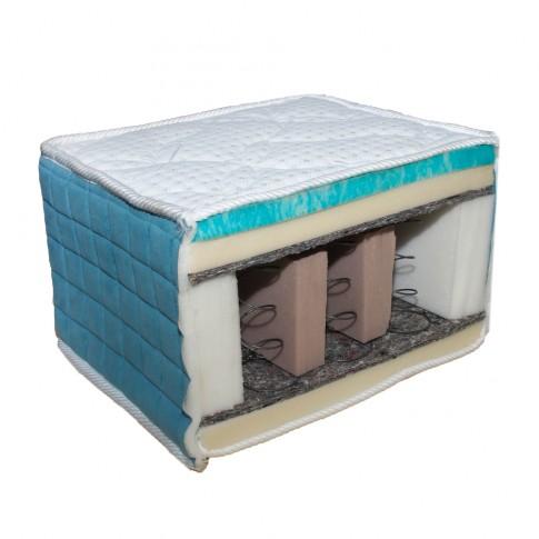Saltea pat Viscotex Memory Visco Gel, superortopedica, 1 persoana, cu arcuri + spuma memory gel, 120x200 cm